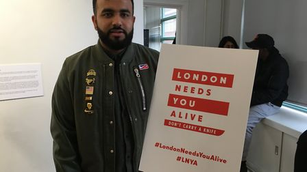 Poet Hussain Manawer at the anti-knife campaign launch - which appeals to teenagers 'Don't carry a k