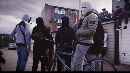 A screen-shot from the YouTube video filmed in Forest Gate, which has been viewed more than 1million