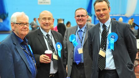 Waveney election 2015 count at Water Lane leisure centre, Lowestoft.Conservative candidate Peter Ald