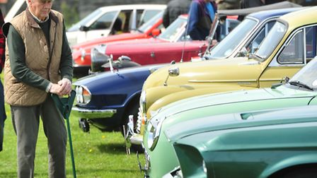 Corton Classic car show on the village playing fields.