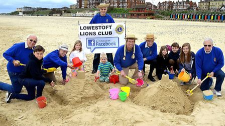 LAUNCH: The Lowestoft Lions Sandcastle Competition will be part of Lowestoft Summer Festival. Here,