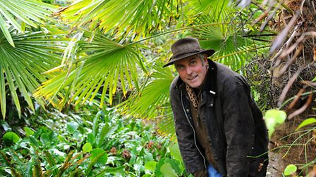 Owner of the garden Andrew Brogan.The Exotic Garden in Henstead will be featuring on a TV show calle