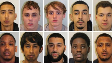 Convicted: (top row left to right) Chris Costi, Bobby Kennedy, Alfie Kennedy, Adam Atallah, Dylan C
