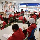 'Transition Day' when new pupils joined Whitechapel's Swanlea Secondary School in 2016. Picture: Swa