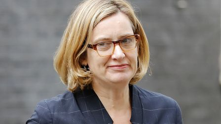 Former Home Secretary Amber Rudd. Photograph: TOLGA AKMEN/AFP/Getty Images.