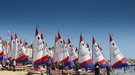 The Royal Norfolk and Suffolk Yacht Club in Lowestoft hosted a successful Topper National Series Eve