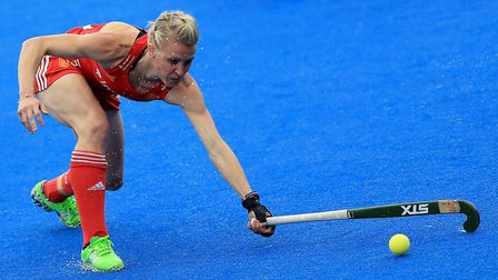 England captain Alex Danson stretches for the ball (pic Nigel French/PA)