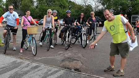Lowestoft East Point Rotary Club's annual Ron Sampson Charity Cycle Ride. Organiser Steve James (rig