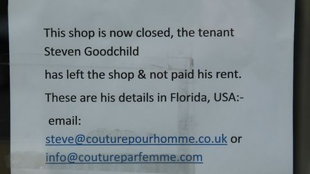 Couture Bride & Groom in Hornchurch has suddenly closed with short notice