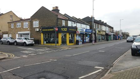 The armed robbery took place at a massage parlour near the junction of Tring Close and Horns Road in