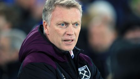 West Ham manager David Moyes during the Premier League match at Goodison Park, Liverpool.