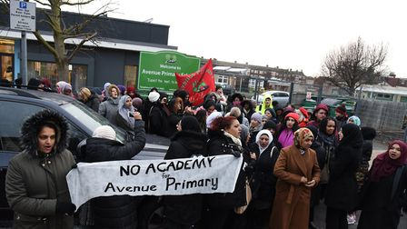 A number of banners were held up by campaigners