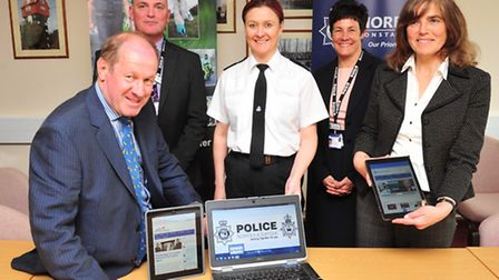 Launch of a new Cyber Crime Unit between Norfolk and Suffolk Police.(Left to right) Tim Passmore, De