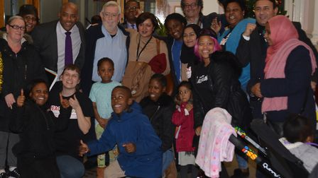 Residents celebrate after the council meeting Picture: Hero Austin