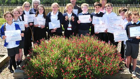 Carlton Colville Primary School Gardening Club have won Best in Show Suffolk Show for a gardening di