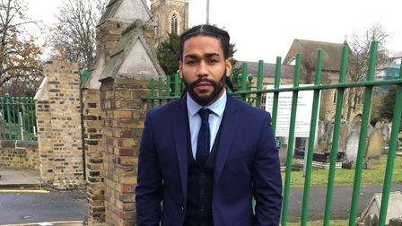 Jermaine Lawlor mentors young people through his organisation Voice 4 Youth Against Violence. Pictur