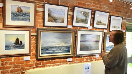 Professional artists group the East Anglian Group of Marine Artists have taken the Fritton Arms Barn