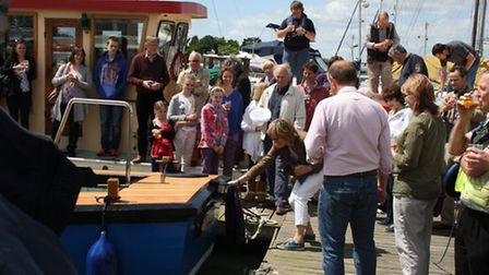 The official launch of Lowestoft's new water taxi.
