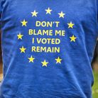 Remainers rallying against Brexit in London.
