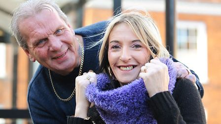 Mervyn Kent proposed to Dawn James at the bus stop where they met in Beccles. Picture: James Bass