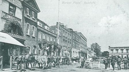 The north side of Romford Market in about 1900. Picture: Brian Evans