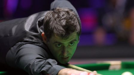 Ronnie O'Sullivan in action at the 2018 Dafabet Master (pic: Adam Davy/PA)