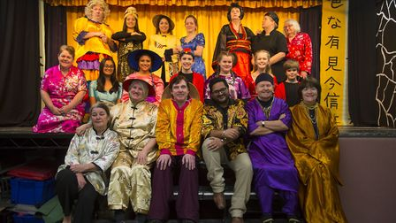 Dress rehearsal of Aladdin by the Dragon Theatre Company at St George's hall in Gants Hill. Picture