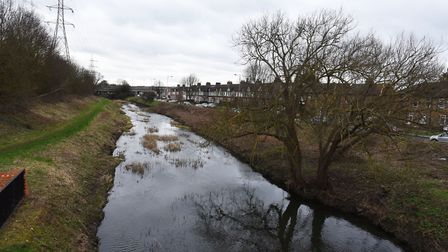 The River Roding at Woodford Green