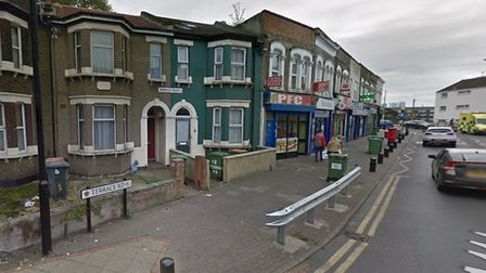 The gunman opened fire in Terrace Road. Picture credit: Google.