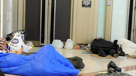 Rough sleepers in the Stratford Centre
