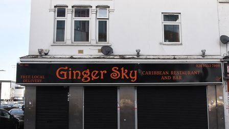 The Ginger Sky restaurant and bar in Ilford