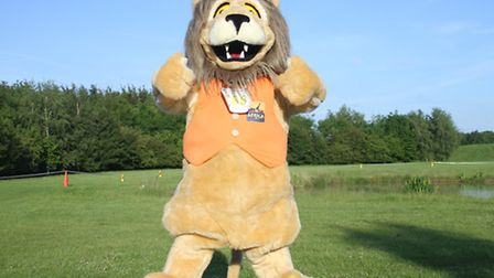 MASCOT: Reggie the Lion is the popular mascot of Africa Alive!