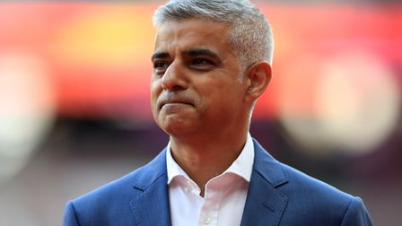 Mayor Sadiq Khan. Picture: PA.