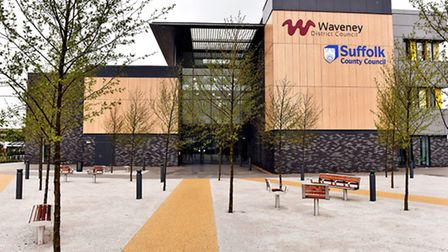 The new Riverside building in Lowestoft the new base for Waveney District Council and offices for Su