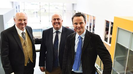 David Ritchie, Deputy Leader of Waveney District Council, Colin Noble, Leader of Suffolk County Coun