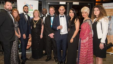 The mayor with Haven House Hospice volunteers from Barclays. Picture: Amanda Hall Photography