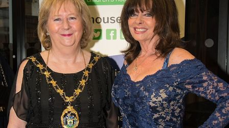 Mayor Linda Huggett with actress Vicki Michelle, a Haven House Hospice patron. Picture: Amanda Hall
