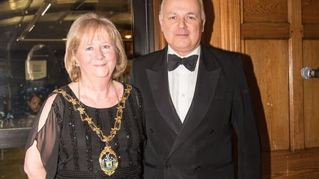 Mayor of Redbridge Linda Huggett with Chingford and Woodford Green MP Iain Duncan Smith. Picture: Am