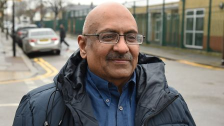 Chandra Bouri had his necklace stolen in an attack in Altmore Avenue, East Ham. Picture: Ken Mears