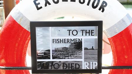 The final Fishermans plaque on the Excelsior was unveiled by Tyler Moore (15) from East Point Academ