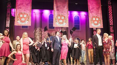 The performance of Legally Blonde in Lowestoft.