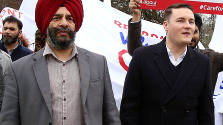 Cllr Jas Athwal with MP Wes Streeting who was also at the meeting. Picture: Catherine Davison
