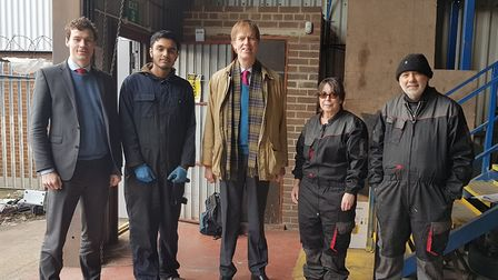 East Ham MP Stephen Timms at Beckton Skills Centre. Picture: Beckton Skills Centre
