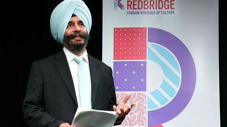 Council leader Jas Athwal is excited about the cultural quarter. Picture: Ken Mears