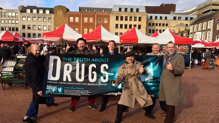 The Jive Aces will be performing in Market Place as part of their Say No To Drugs campaign.