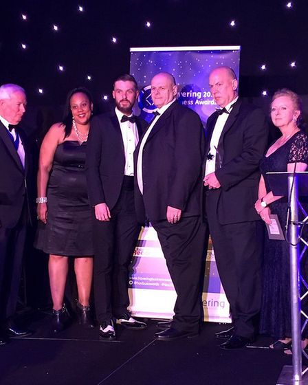 The Small to Medium Business of the Year Award went to Security Projects UK. Photo: Havering Council