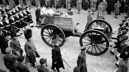 The funeral procession for King George VI. Picture: PA