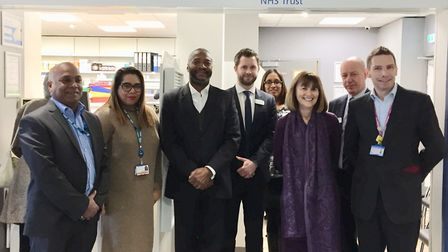 The opening of the new pharmacy at Newham University Hospital Picture: Barts Health