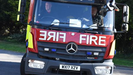 The blaze broke out in a third floor flat