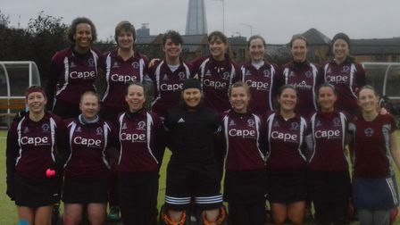 The Wapping over-35s team face the camera (pic: Wapping HC)